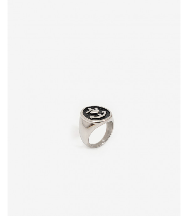 Sailor style metal ring
