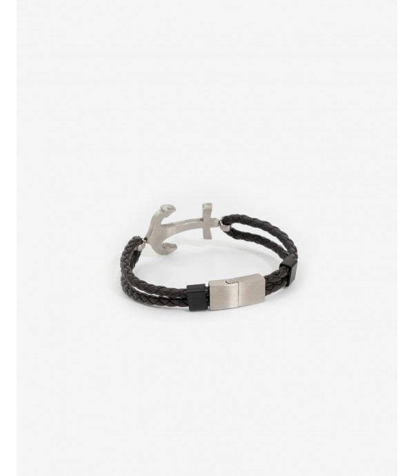 Leather bracelet with ancor
