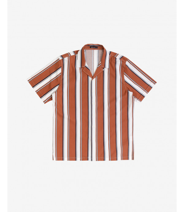 Short-sleeve striped shirt