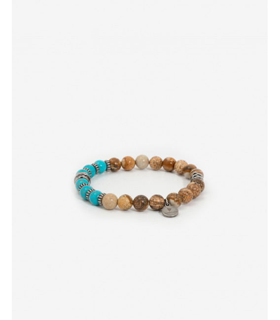 Bracelet with turquoise and sand beads