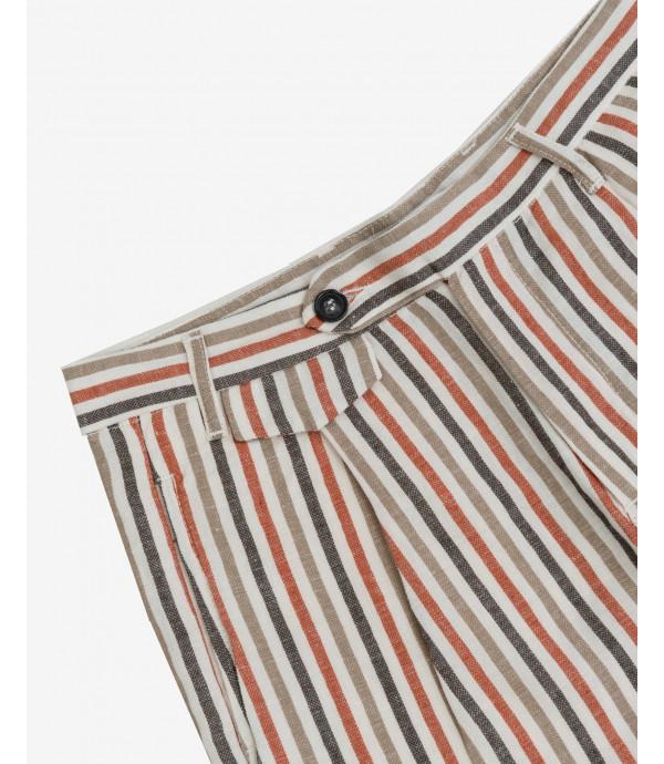Linen mix bermuda shorts