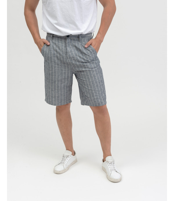 Linen mix bermuda shorts