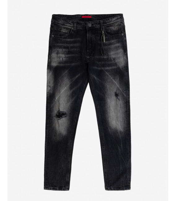 Bruce regular fit black with fading
