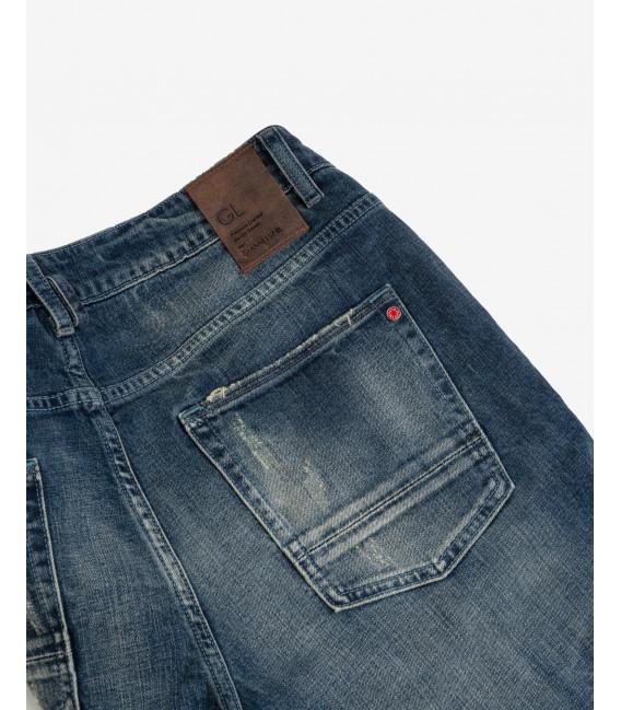 Jeans Bruce regular fit sand blasted con accessorio
