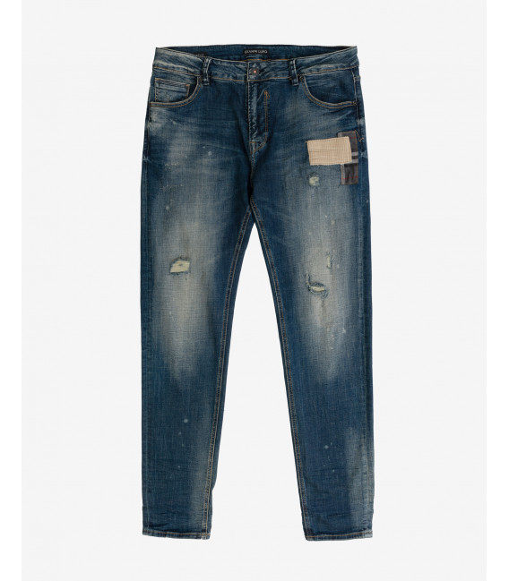 Kevin skinny fit medium wash distressed jeans