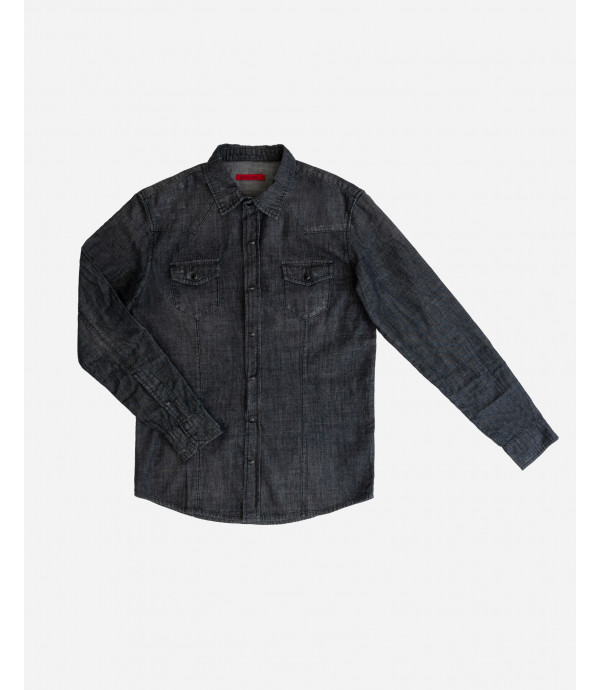 More about Black denim shirt with snaps