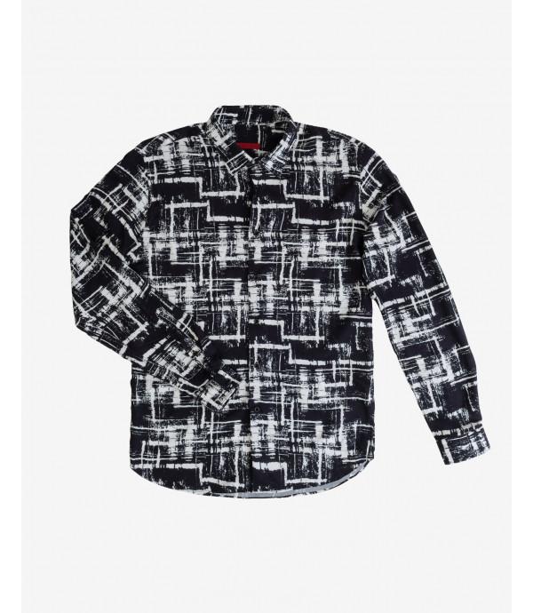 Camicia in fantasia geometrica