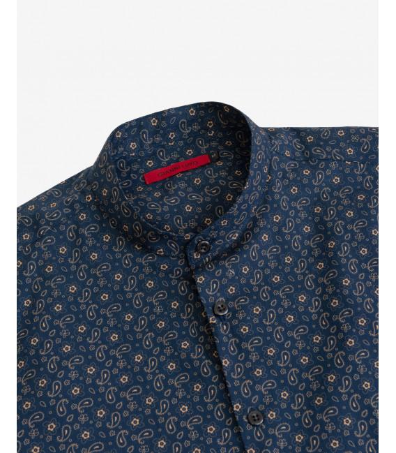Camicia in fantasia micro-cachemire