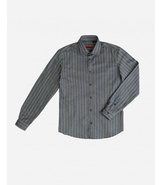 Camicia in flanella a righe