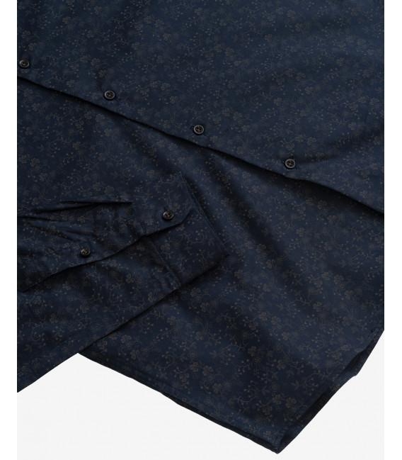 Micro floral pattern shirt