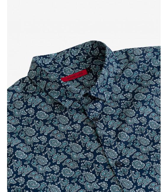 Camicia in micro fantasia cachemere