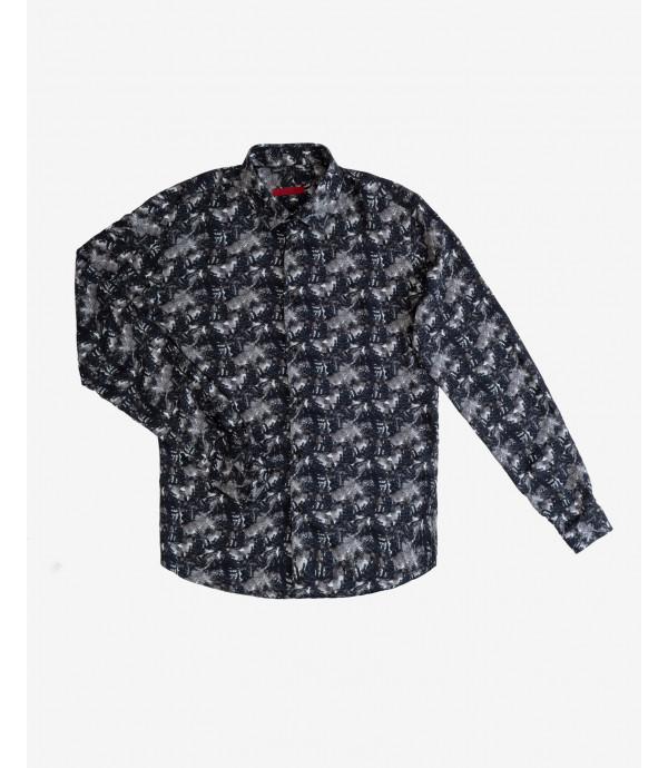 Marbling effect printed shirt