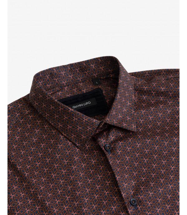 Micro-pattern printed shirt