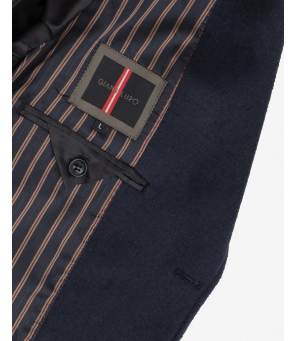 Cappotto in panno lungo basico