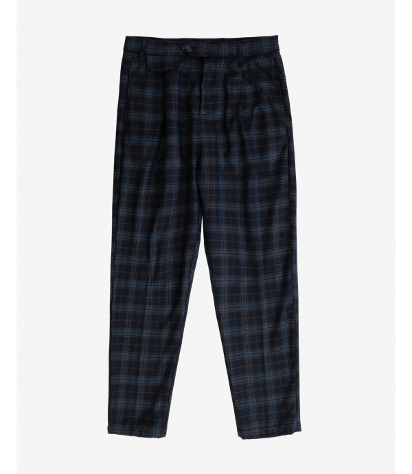 Checked comfort fit trousers
