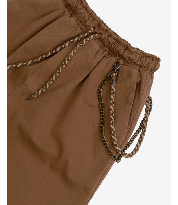 Basic drawstring trousers with chain