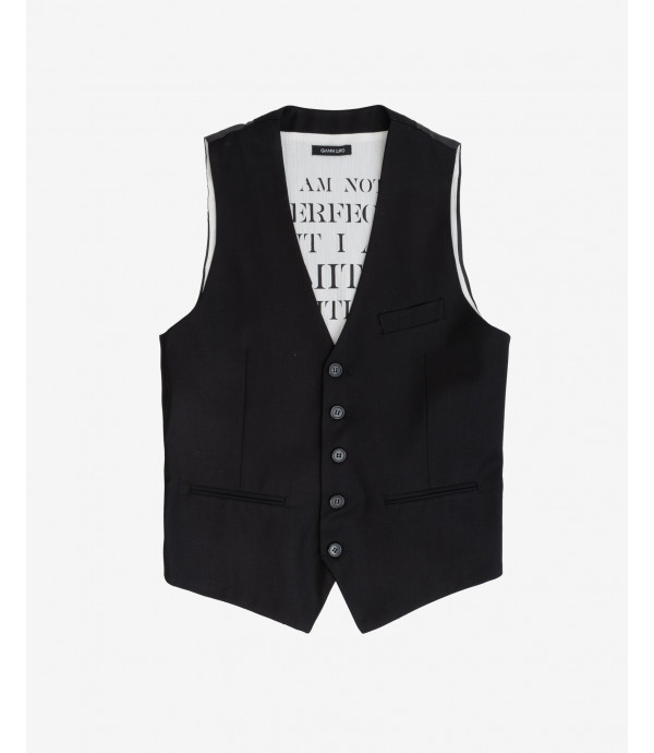 Solid colour waistcoat