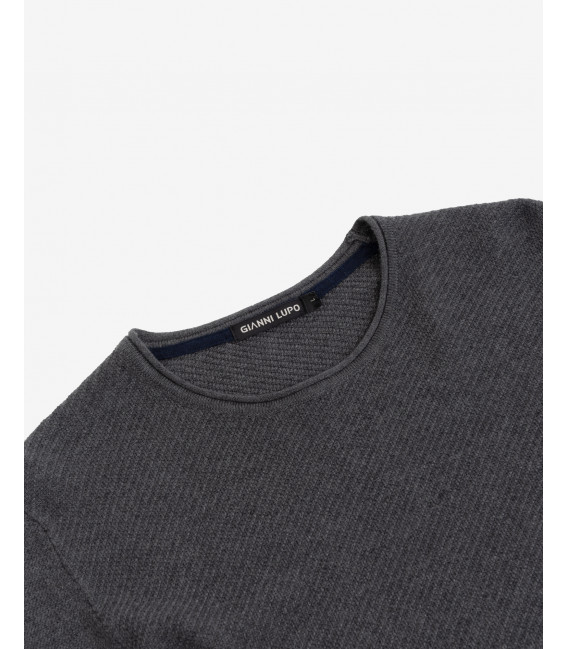 Curled edges knitted jumper