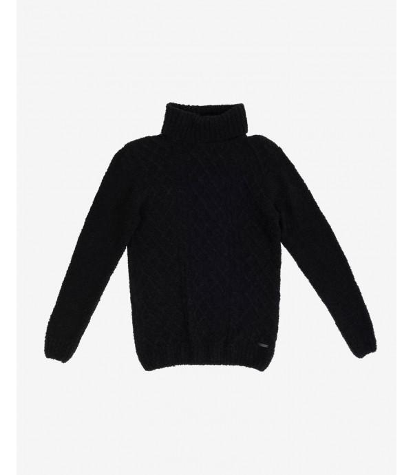 Turtleneck cable knit jumper