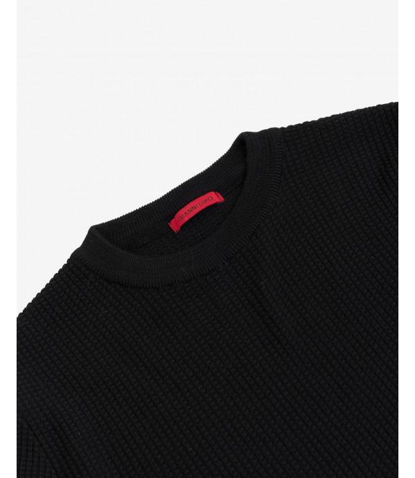 Wool mix ribbed jumper