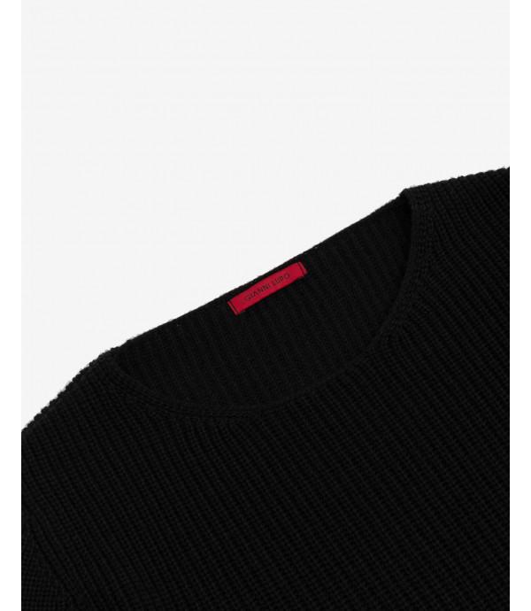 Ribbed round neck jumper