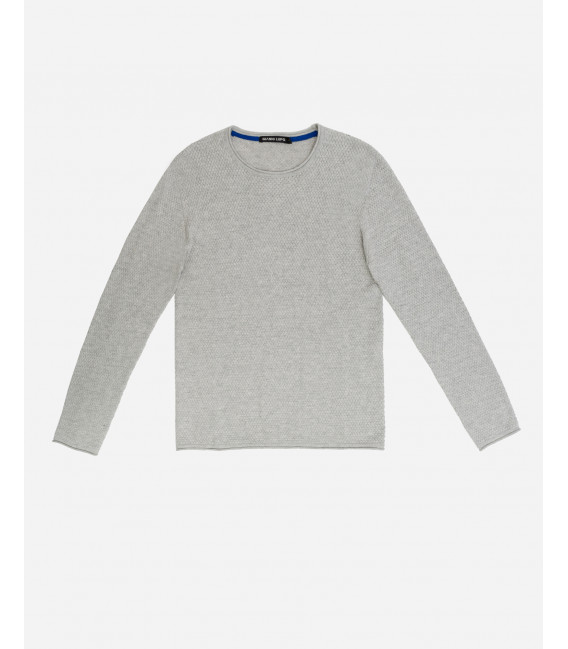 Basic crewneck jumper with curled edges