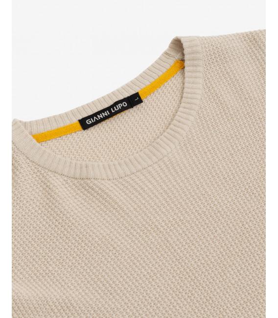 Basic crewneck knitted jumper