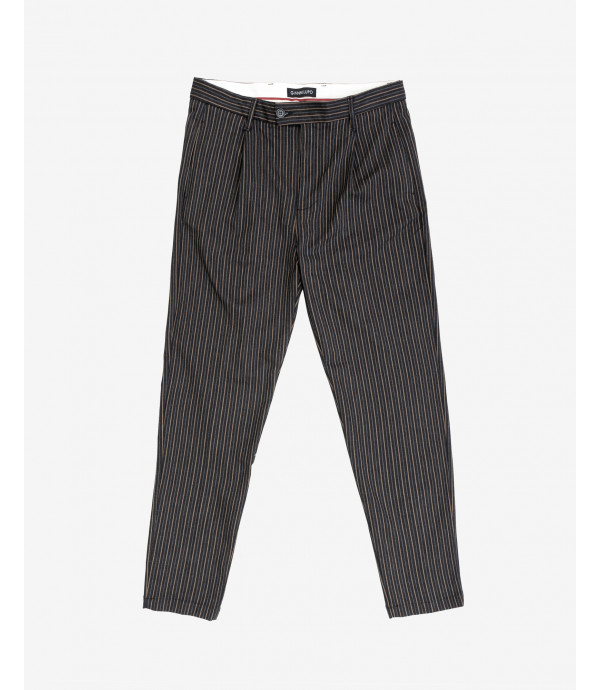 Slim fit striped trousers