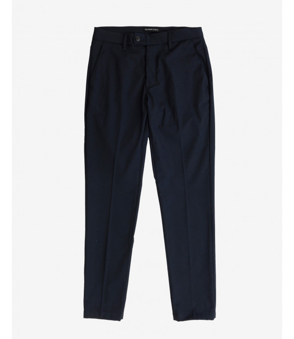 Texured smart slim fit trousers