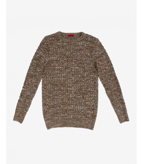 Slubbed cable knit jumper