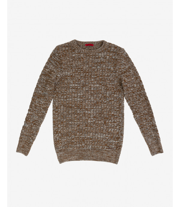 Slubbed cable knit jumper