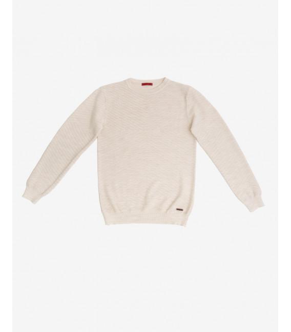 Wool mix jumper with geometric pattern