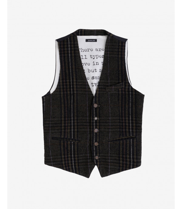 More about Wool mix checked waistcoat