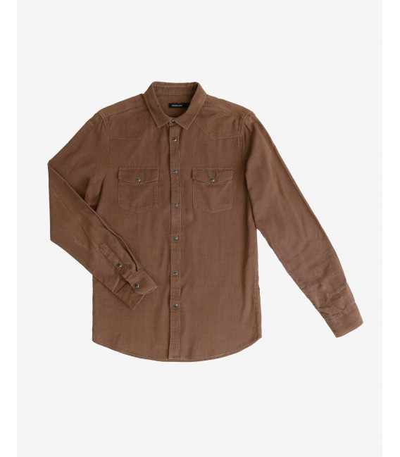 Corduroy shirt with snaps