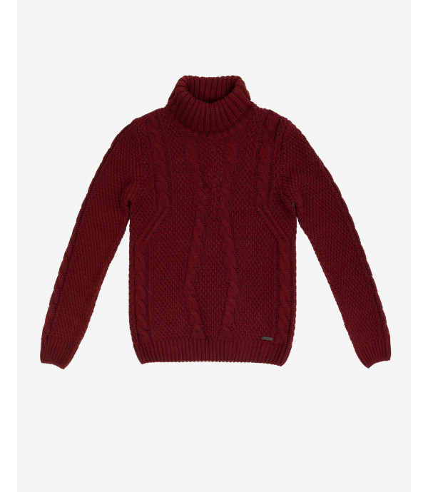 Cable knit turtleneck jumper