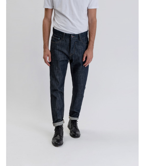 Carrot fit rinsed jeans