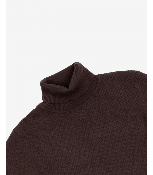 Patterned turtleneck jumper