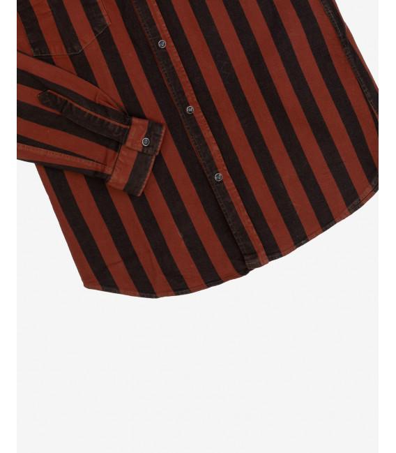 Denim shirt in stripes