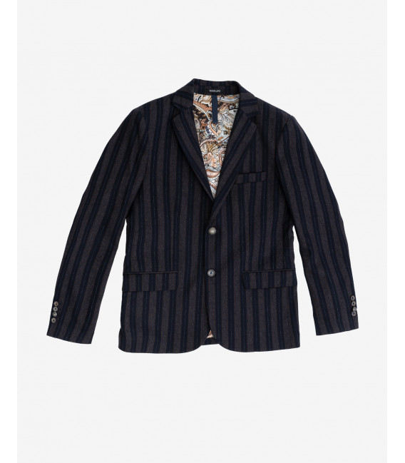 Regimental stripes blazer
