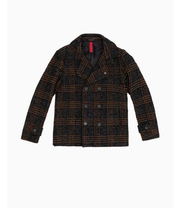 More about Wool mix check Peacoat