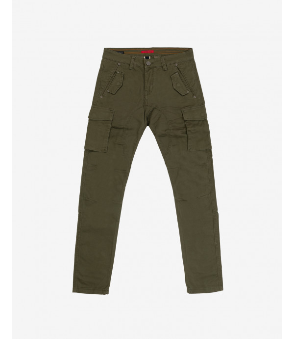 Pantaloni cargo slim fit a coste