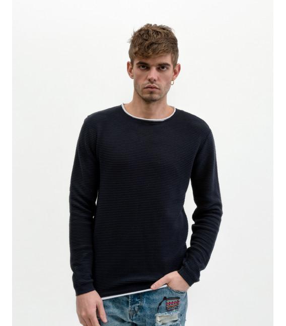 Double edge crewneck sweater