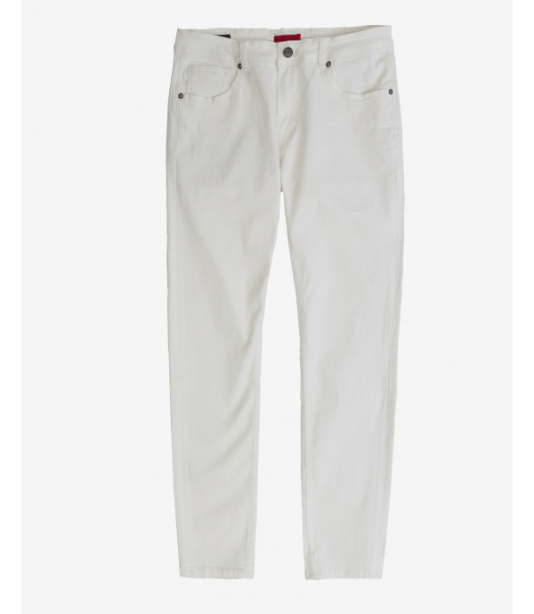 Kevin skinny fit white jeans