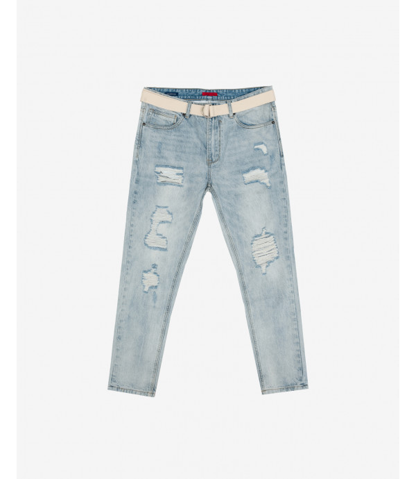 Bruce regular fit jeans with rips