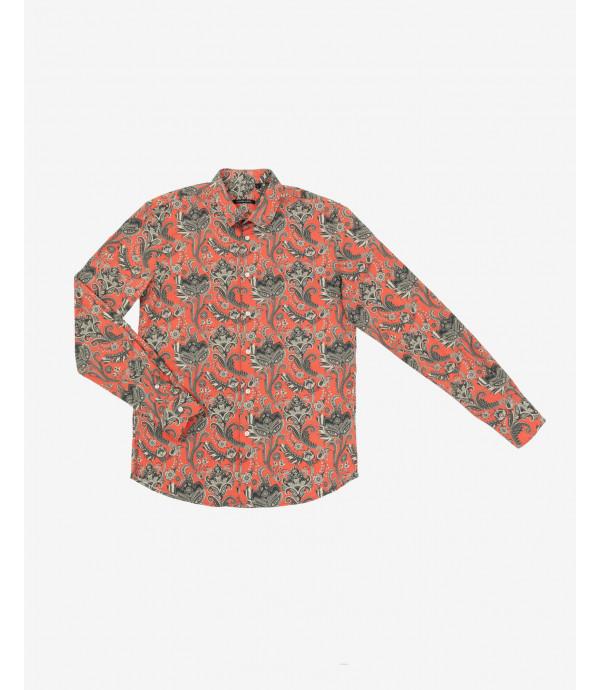 Camicia in fantasia floreale