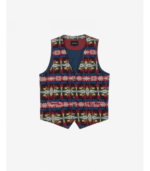 Aztet patterned waistcoat
