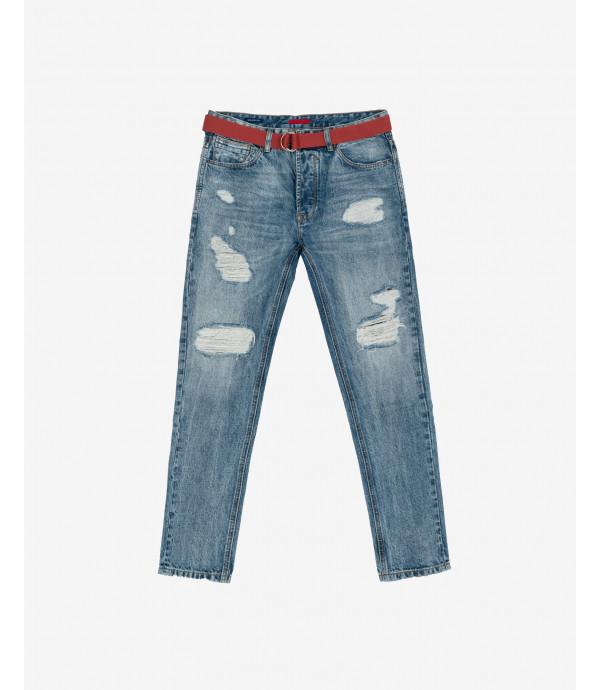 Bruce medium wash regular fit jeans