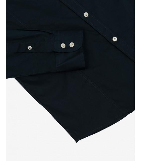 Slim fit basic mandarin collar shirt