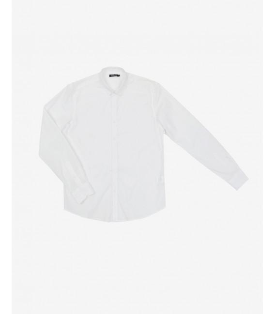Slim collar basic shirt