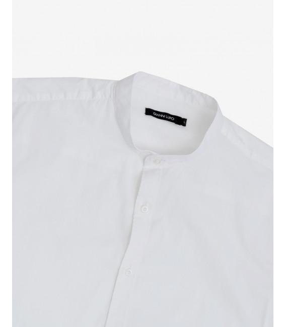 Regular fit basic mandarin collar shirt